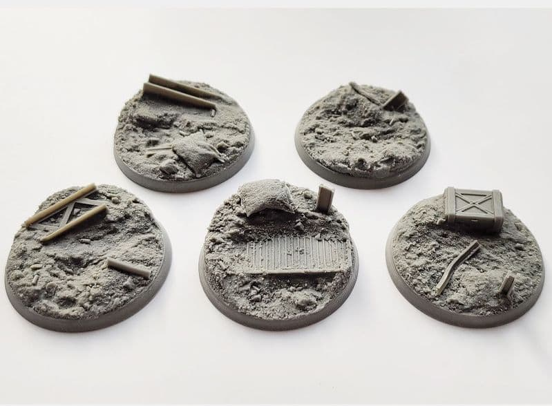 50mm Trench Warfare Bases (5)